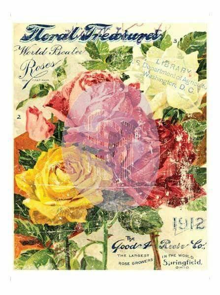 Merveilleux Decor Transfer 11u2033x14u2033 U2013 Floral Treasures